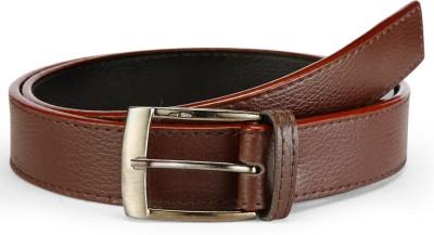 Arum Men Casual Brown Genuine Leather Belt