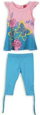 Lilliput Girls Casual Top Trouser(Blue)