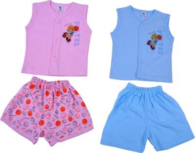Cucumber Boys Casual T-shirt(Pink) at flipkart