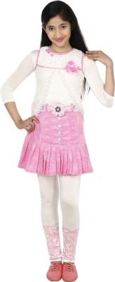 Sienna Girls Party(Festive) Top(White)