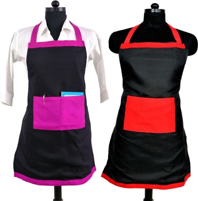 SwitchOn Polyester Home Use Apron - Free Size(Black, Pack of 2) at flipkart