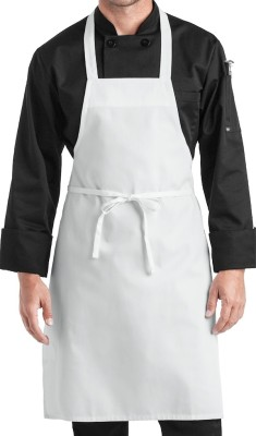 Airwill Cotton Home Use Apron - Free Size(White, Single Piece) at flipkart