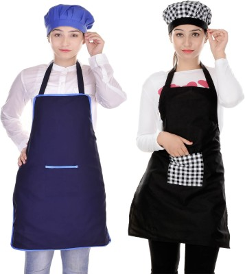 SwitchOn Polyester Chef's Apron - Free Size(Multicolor, Pack of 2) at flipkart