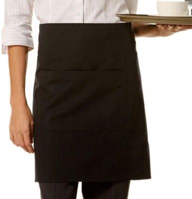Airwill Cotton Home Use Apron - Free Size(Black, Single Piece) at flipkart