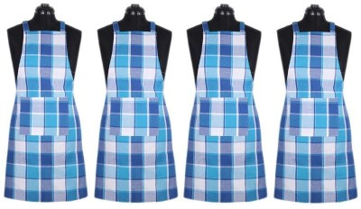 SBN New Life Style Cotton Home Use Apron - Free Size(Multicolor, Pack of 4) at flipkart