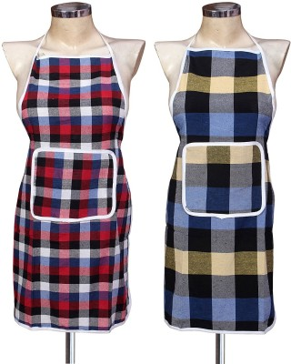 Yazlyn Collection Cotton Home Use Apron - Free Size(Multicolor, Pack of 2) at flipkart