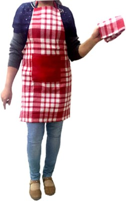 AAZEEM Cotton Chef's Apron - Free Size(Red, Single Piece) at flipkart