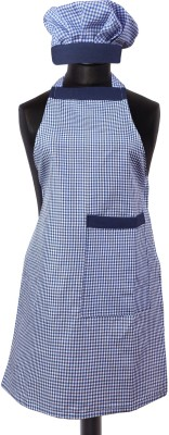Yellow Weaves Cotton Home Use Apron - Large(Blue, Single Piece) at flipkart