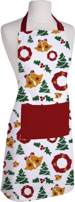Airwill Cotton Home Use Apron - Free Size(Red, Dark Green, White, Single Piece) at flipkart