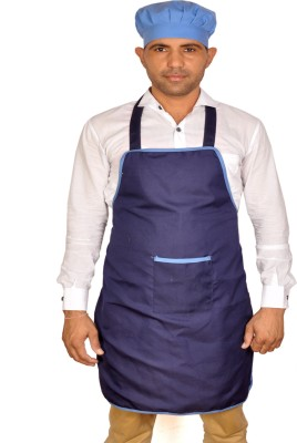 SwitchOn Polyester Apron - Free Size(Blue, Single Piece) at flipkart
