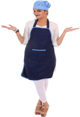 SwitchOn Polyester Home Use Apron - Free Size(Blue, Single Piece) at flipkart