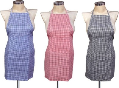 Shreejee Cotton Home Use Apron - Free Size(Multicolor, Pack of 3) at flipkart