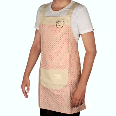 HOKIPO Cotton Home Use Apron - Free Size(Multicolor, Single Piece) at flipkart