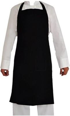 Hansafe Cotton Home Use Apron - Medium(Black, Single Piece) at flipkart
