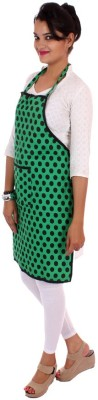 SwitchOn Cotton Home Use Apron - Free Size(Green, Single Piece) at flipkart
