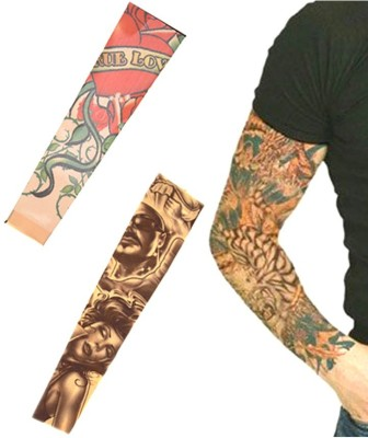 Aadishwar Creations Tattoo21 Nylon Arm Warmer(Multicolor)