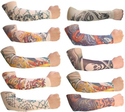 Aadishwar Creations Tattoo8 Nylon Arm Warmer(Multicolor)