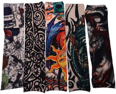Aadishwar Creations Tattoo13 Nylon Arm Warmer(Multicolor)