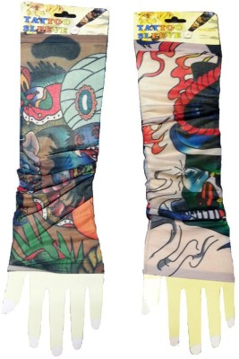 Aadishwar Creations Tattoo18 Nylon Arm Warmer(Multicolor)