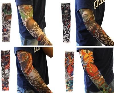 Aadishwar Creations Tattoo11 Nylon Arm Warmer(Multicolor)