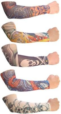 Aadishwar Creations Tattoo25 Nylon Arm Warmer(Multicolor)