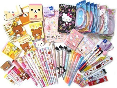 San X 10 of Assorted School Supply Stationary Set  10 Items Will Be Randomly Selected From the Image Shown