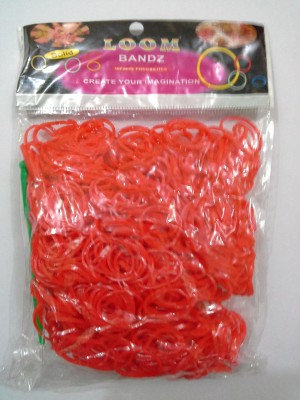 Shatchi 600 JELLY RED Loom band refill art craft kit toys with S Clips & Hook, special gift for birthday,Anniversary,festival