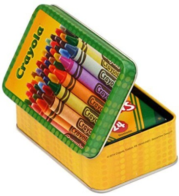 crayola large storage tin and box of crayola crayons best price in