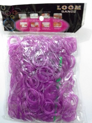 Shatchi 600 Purple Glow In Dark Loom Band Refill Kit Kids Toys Arts Crafts With S Clips & Hook,Gift For Birthday, Anniversary, Festival