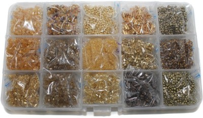 Jaunty Beadsnfashion Jewellery Making Seed Beads Shades Of Earthy Color Tones DIY Kit (15 Colors)