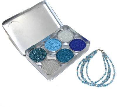 Jaunty Beadsnfashion Jewellery Making Seed Beads Ice Age DIY Kit (6 Colors) Flipkart