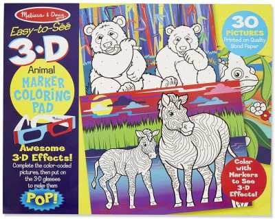 Compare melissa doug 3d coloring book animals Prices Online and Buy ...