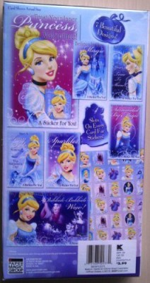 Paper Magic Disney Princess Cinderella Valentine Cards with Stickers BESP121271  available at flipkart for Rs.898
