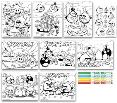 Angry Birds Marker by Number Drawing Set