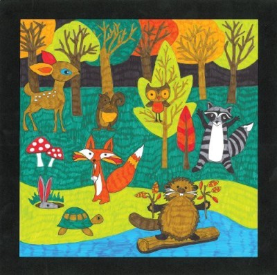 Faber-Castell Color By Number Forest Friends Art Set Premium Kids Crafts