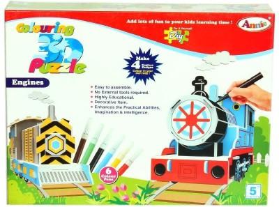 Annie Colouring 3 D Puzzle - Engine