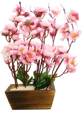 Kaykon Pink Wild Flower Artificial Flower  with Pot(15 inch, Pack of 1) at flipkart