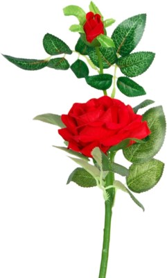 Loxia Red Rose Artificial Flower  with Pot(2.3 inch, Pack of 1)  available at flipkart for Rs.205
