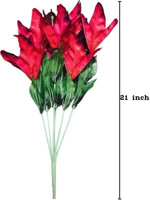 Amvera Red Lily Artificial Flower(21 inch, Pack of 1) at flipkart