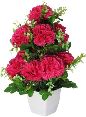 eMani Multicolor Wild Flower Artificial Flower  with Pot(12 inch, Pack of 1) at flipkart