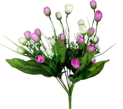 Orchard Purple, White Assorted Artificial Flower(16 inch, Pack of 1) at flipkart