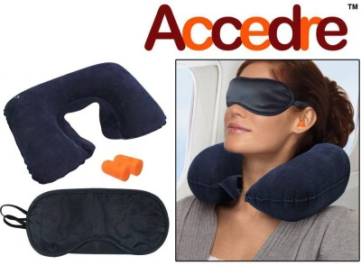 Accedre 1 Inflatable Neck Cushion, 1 Eye Mask, 1 Ear Plugs Combo  available at flipkart for Rs.225