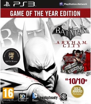 Batman: Arkham City (Game Of The Year Edition)(for PS3)  available at flipkart for Rs.925