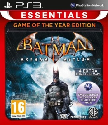 Batman: Arkham Asylum (Game Of The Year Edition)(for PS3)  available at flipkart for Rs.722