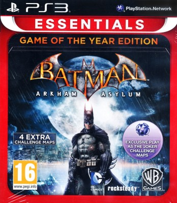 Batman: Arkham Asylum (Game Of The Year Edition) (Game of the Year Edition)(for PS3)  available at flipkart for Rs.849