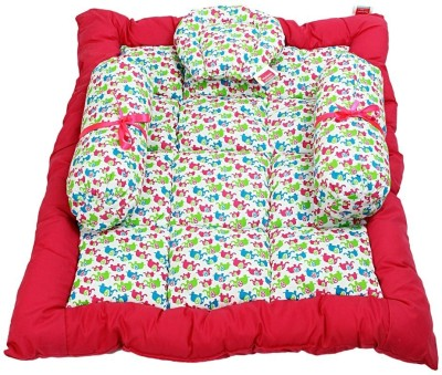 Morisons Baby Dreams Elephant Print Baby Bed Set Baby Carry Bed Mattress(Fabric, Pink)