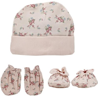 Baby Boo CAPS & MITTEN SET(Peach)  available at flipkart for Rs.199