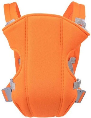SND New Soft Cotton Adjustable With Multi Positions Front & Back (Orange) Baby Carrier(Orange, Front Carry facing in) at flipkart