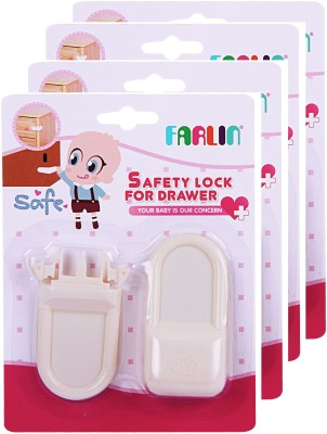 Farlin Safety Lock For Drawers 4Pcs(White)  available at flipkart for Rs.630