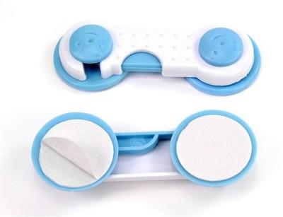 Hamper Baby Drawer Cupboard Cabinet wardrobe Door Fridge Safety Lock(White, Blue)  available at flipkart for Rs.114